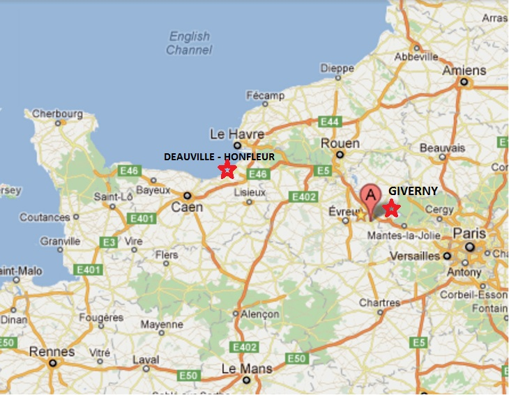 ou se situe deauville sur la carte de france my blog. Black Bedroom Furniture Sets. Home Design Ideas